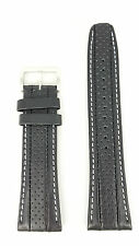 Watchband Seiko Calf Black Leather -B 24mm SNAB55P1 Watch Strap 7T62 0HL0 4LR4JB
