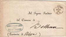 """Lettre/Cover Italy Torino """"Direzione Gen. Delle Regie Poste"""" 1857"""