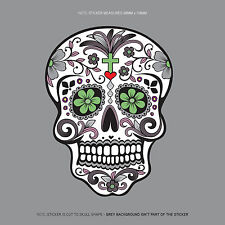 SKU1126 - Day Of The Dead - Calavera - Sugar Skull - Flower - Decal/Sticker