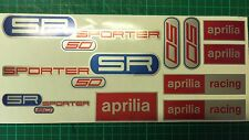Aprilia SR50 SPORTER decals, stickers, graphics, racing SR 50 blue red silver
