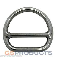 8mm A4-AISI 316 Stainless Steel Double Bar D Ring FREE Postage & Packaging!