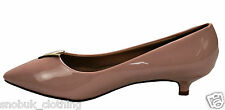 WOMENS LADIES MID STILETTO POINTED TOE LOW HEELS PARTY PUMPS COURT SHOES SIZE