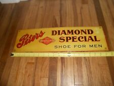 Vintage Original TIN CARDBOARD TOC PETERS DIAMOND BRAND SHOES ADVERTISING SIGN