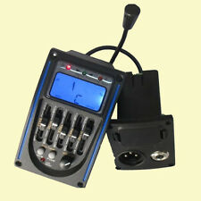 Acoustic 5-Band Guitar Preamp EQ Equalizer Piezo Pickup Tuner BLUE LCD-MIC-022#