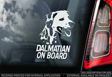 Dalmatian - Car Window Sticker - Dog on Board Sign - Dalmation Dalmatinac - TYP1