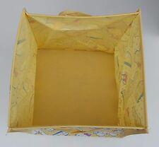 """Hello kitty pliable pliant jaune sac de rangement boîte de tissu matériel 12"""" sq"""