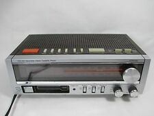Vintage UL JC Penney Retro AM/FM Clock Radio Cassette Tape Player Alarm 680-3743