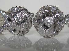 $1450 DAVID YURMAN ,SS RENAISSANCE DIAMOND EARRINGS