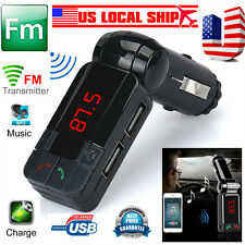 Dual USB Car Kit Charger Wireless Bluetooth Stereo MP3 Player Transmitter US