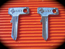Motorcycle Steering Lock Key blanks x 2-Suits Ducati,Yamaha,Vespa,Piaggio & More