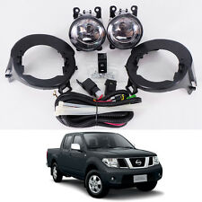 For 2005-14 Nissan Frontier Navara D40 Clear Lens Fog Light Kit Lamp Abs Bumper