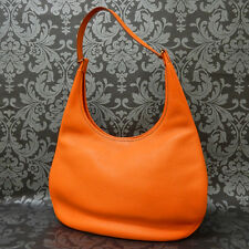 Rise-on HERMES GAO Orange Leather Shoulder Bag Handbag #31