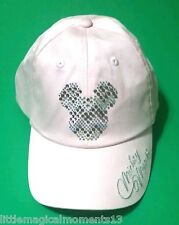 DISNEY PARKS MICKEY MOUSE PINK  BLING BEDAZZLED  BASEBALL CAP HAT