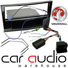Vauxhall Corsa Car Stereo S/Din Piano Facia Panel & Steering Wheel Interface Kit