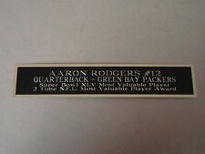 Aaron Rodgers Packers Nameplate For A Football Mini Helmet Display Case 1.25 X 6