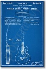 Gretsch Guitar Patent - NEW Vintage Invention Patent Poster