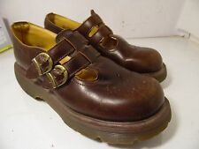 Women's Shoes Dr. Martens 8065 Double Strap Mary Jane Brown UK 6 Size 8