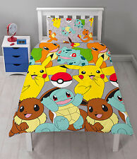 Pokemon Go Catch Kids Single Duvet Quilt Cover Reversible Bedding Set