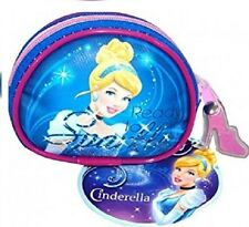 Disney Cinderella Blue And Purple Clip On Girls Purse Wallet Coin
