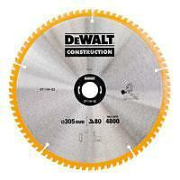 DEWALT DT1184 MITRE SAW BLADE 305MM X 30MM BORE 80 TOOTH FOR DWS780 DW718