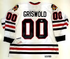 """CHEVY CHASE """"CLARK GRISWOLD"""" SIGNED CCM CHICAGO BLACKHAWKS JERSEY XL PSA/DNA COA"""
