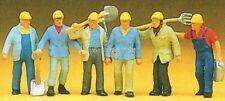 H0 Preiser 10033 Trabajadores De La Construcción Del Ferrocarril. Figuras