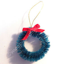 Doll House 12th Scale Christmas Wreath with Red Bow