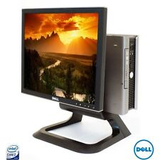"Dell USFF Cheap Desktop Computer 2Gb 160Gb Win 7+ 17"" Monitor WiFi Fast Win 7"