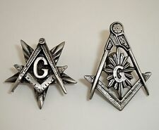Masonic Lodge Square & Compasses Freemason Star Mason Lapel pin Lot