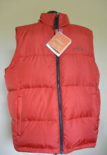 Eddie Bauer Down Vest XL Red Packable Systems Goose 550 Fill Solid NWT