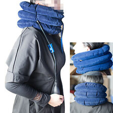 Air Inflatable Pillow Cervical Neck Headache Pain Traction Support Brace 【US】