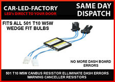 FIAT T10 501 LED CANBUS ERROR CANCELLING RESISTORS DASHBOARD ERROR FREE KIT