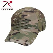 Multicam Camouflage Operator Cap Tactical Hat  With US Flag 4363 Rothco