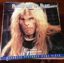 BEAUTY AND THE BEAST - THE TV SERIES Laserdisc LD Linda Hamilton 2 Full Episodes