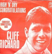 7inch CLIFF RICHARD congratulations HOLLAND 1968 EUROVISIE EX +PS