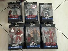 "Marvel Legends 6"" Captain America Civil War set of 6 complete MISB Giant MAN"