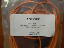 ANIXTER 3 METER FIBER OPTICS CABLE ASSEMBLY PN 129351 LOT OF 6 FREE SHIPPING