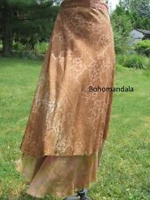 5 Vintage Silk Sari Magic Wrap Skirts Dress Recycled Fair Trade Bohemian Hippie
