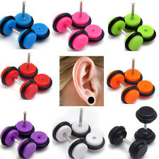32PCS Fake Gauge Kit Acrylic Plugs Studs Cheater Assorted Color Body Pierceings