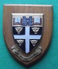 c1960 Dover College College Grammar School University Crest Shield Plaque