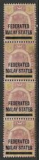 Malaya stamps 1900 SG 9 strip of 4  UNG  F/VF