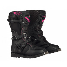 2017 Oneal Motocross/Offroad Rider YOUTH Boots BLACK& PINK SIZE K12