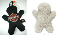 PLAY DOG PELUCHE TOY EXERCISE HARLEY DAVIDSON BAR&SHIELD GENUINE RATTLE FLEECE