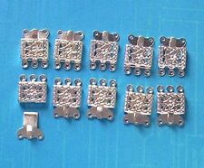 20 x 3-string SP push-in clasps, findings for jewellery making crafts