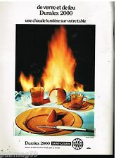 Publicité Advertising 1972 Service de table Assiette Duralex 2000 Saint Gobain