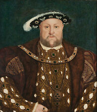 Henry VIII of England by Hans Holbein Fine Art Giclee Canvas Print