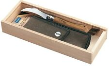 "Opinel Wood Gift Box Mushroom Knife Oakwood Hdl w/Sheath 8cm 3.15"" 001334 001327"