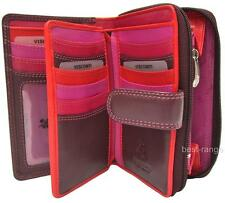 Ladies Purse Wallet Soft Leather Purple/Red/Pink Visconti New in Gift Box R13