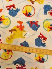 """SESAME STREET WORKSHOP BY QUILTING TREASURES 100% COTTON FABRIC 45"""" WIDTH FH-832"""