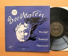 VOX PL 7160 Beethoven Moonlight Pathetique Appassionata Orazio Frugoni 1954 EX